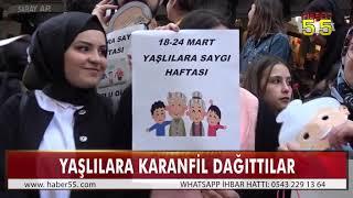 OMÜ'LÜ ÖĞRENCİLER YAŞLILARA SAYGI HAFTASI'NI KUTLADI