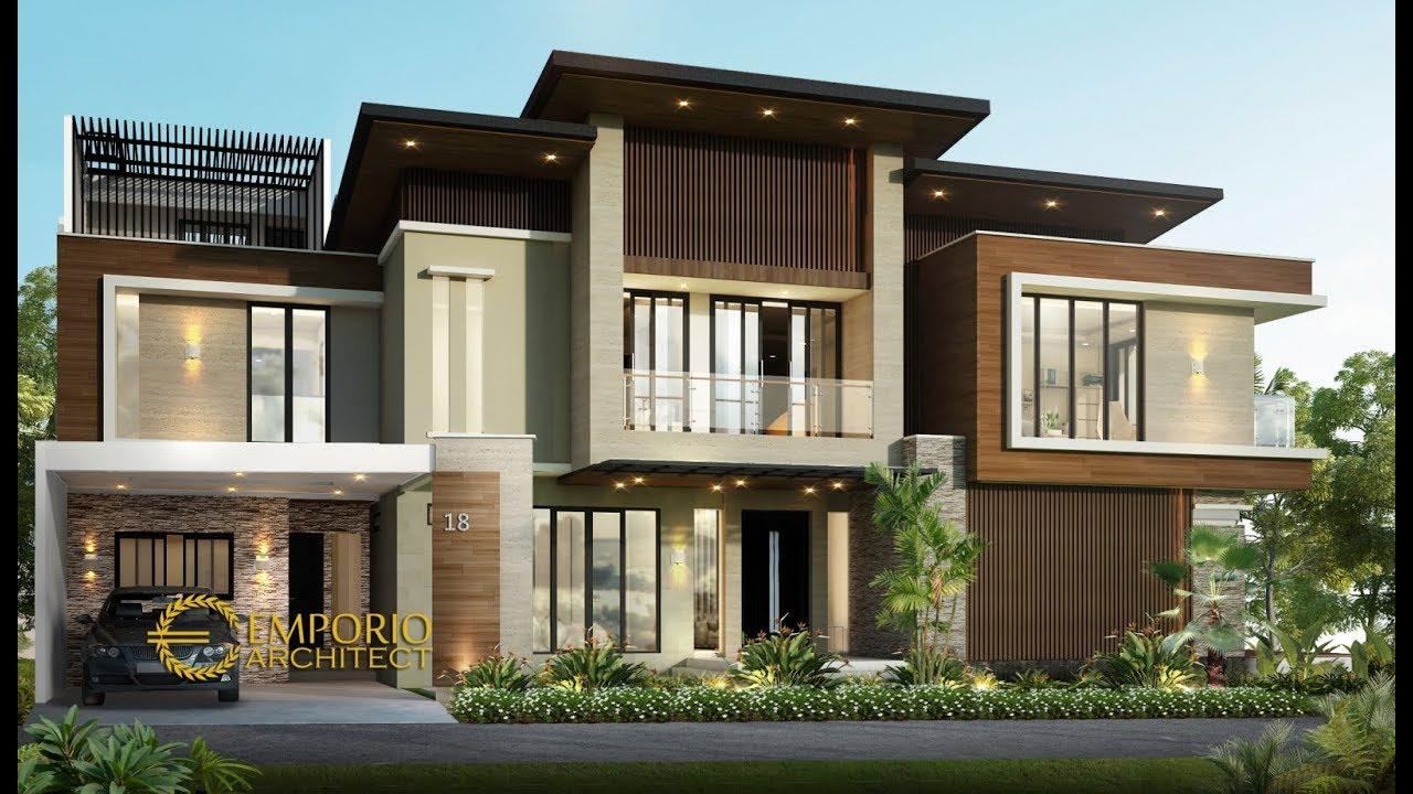 Video 3D Desain Rumah Hook Modern 2 Lantai Ibu Emil di Jakarta Utara