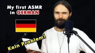 My first ASMR video in German (flüstern, asmr auf Deutsch, a few triggers)