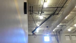 Arizona Courtlines, Inc. Roll Fold Basketball Backstop