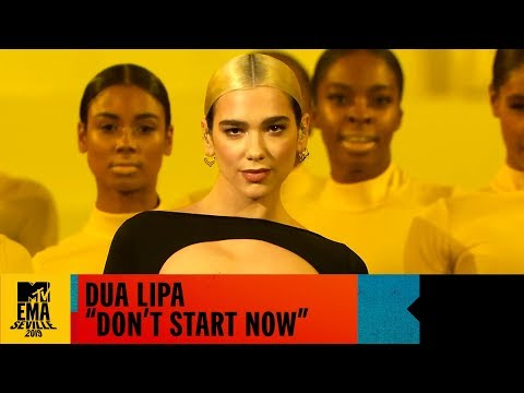 Dua Lipa 🎤 'Don't Start Now' Live EMA Performance | MTV