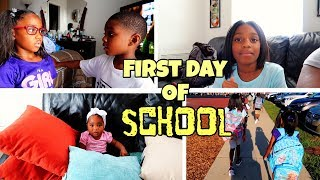 BACK TO SCHOOL 2019 GRWM 4 CHILDREN | Black Family Vlogs