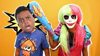 Shasha Becomes Joker Girl! - Shiloh Crazy Pranks - Onyx Kids