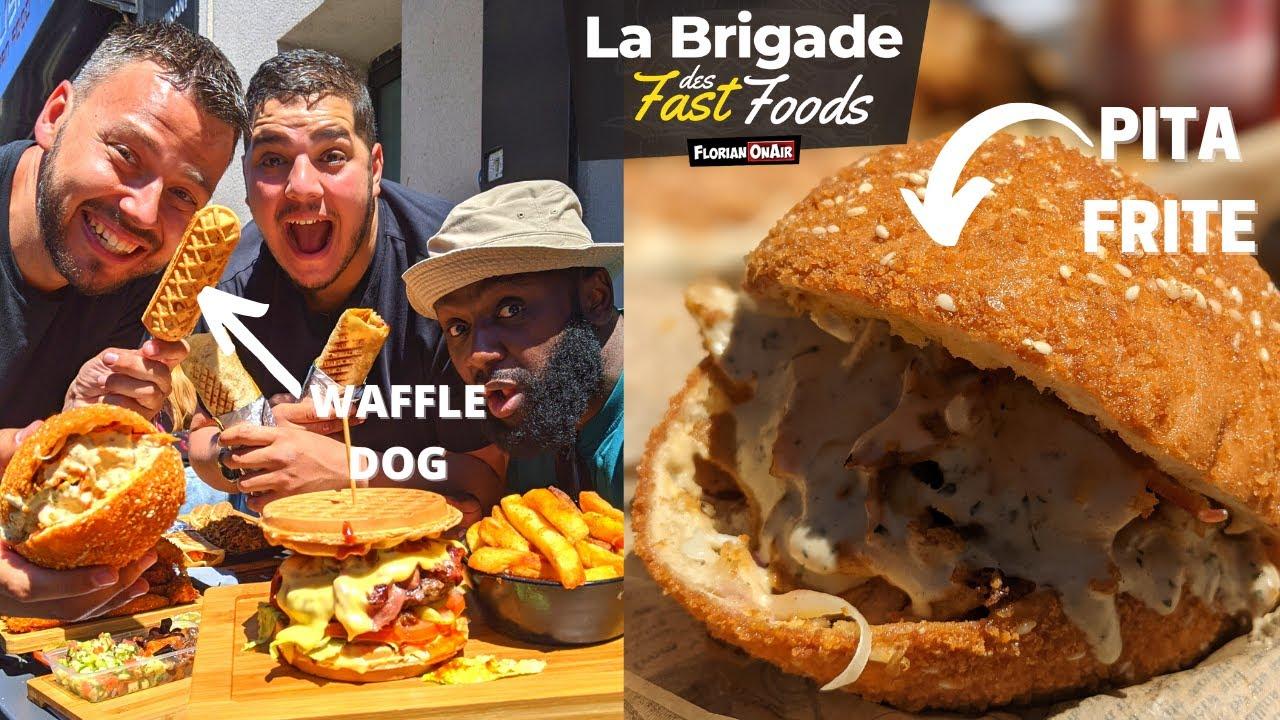 Le FAST FOOD le + ORIGINAL de la BRIGADE? Waffle Dog, Pita frite, ...  - VLOG 1163