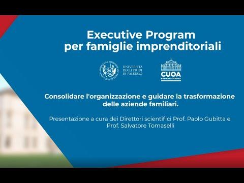 Presentazione a cura dei Direttori scientifici Prof. Paolo Gubitta e Prof. Salvatore Tomaselli