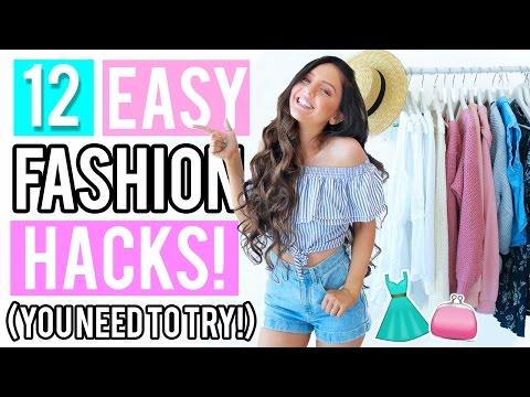 12 Clothing Hacks Everyone NEEDS To Try! + Testing DIY Fashion Hacks 2017!