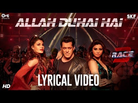 Download Allah Duhai Hai Song with Lyrics - Race 3 | Salman Khan | JAM8 (TJ) | Latest Hindi Songs 2018 HD Mp4 3GP Video and MP3