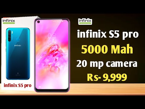 Infinix S5 pro - 20 mp quad camera, 5000 mah battery, fast charging, usb type C and much more