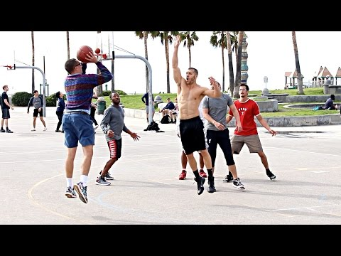NERD PLAYS BASKETBALL AT VENICE BEACH!! (EXTRAS)