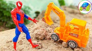 Bài hát My Little Pets - Người nhện, xe máy xúc tốt bụng - Đồ chơi trẻ em | Kid Studio