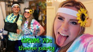 GRWM: 70s theme party!