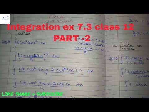12 th (NCERT) Mathematics-INTEGRATION (CALCULUS) EXERCISE-7 3