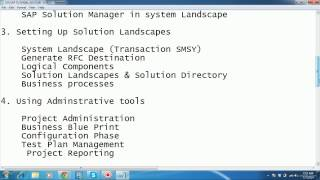 SAP SOLUTION MANAGER TUTORIAL VIDEOS-JUST 200 USD