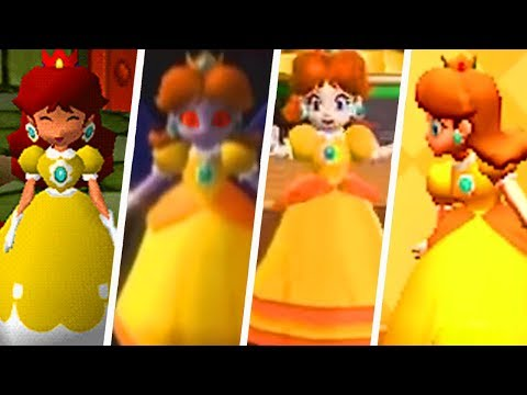 Evolution of Princess Daisy in Mario Party Games (2000 - 2018)