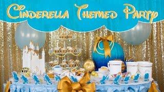 Cinderella Themed Party Table Decor Ideas | BalsaCircle.com