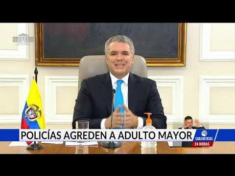 ¿Abuso policial? Duque repudió el arresto de un adulto mayor en Bogotá