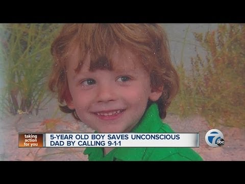 5-year-old boy saves unconscious dad by calling 911 mp3