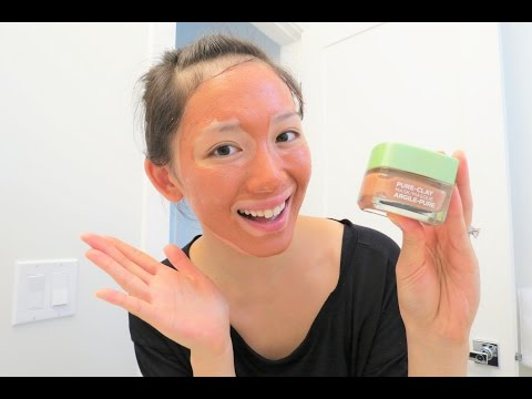 L'oreal Pure-Clay Mask Review! (Exfoliating & Pore Refining)