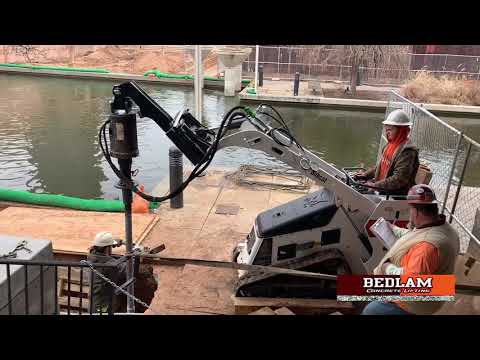 Bedlam Concrete Lifting installed helical piers on the Riverwalk- Bricktown in Oklahoma City, Ok