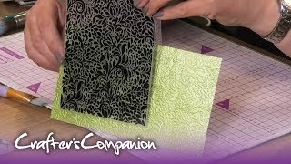 How To Use 2D Embossing, 3D Embossing And Cut And Emboss Folders