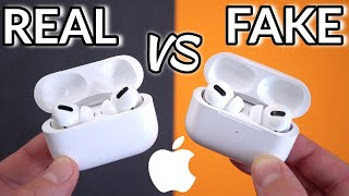 FAKE VS REAL Apple AirPods Pro - Buyers Beware! Real ANC, Perfect Clone!