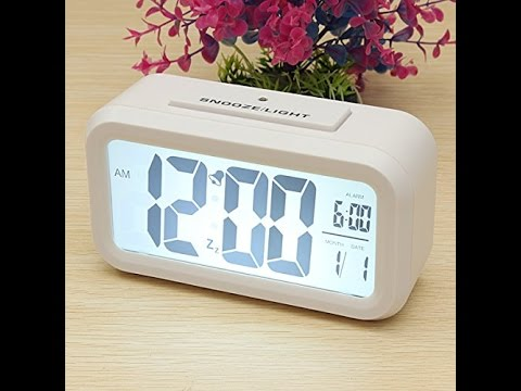 Videorecensione ITA AUDEW Sveglia Digitale Alarm Clock LED Calendario LCD Sensibile Luce