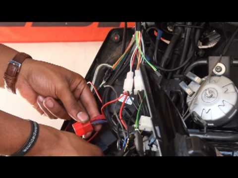 PGO Gauge install for the Yamaha Zuma 125 Bws 125 Scooter (Race Concept)
