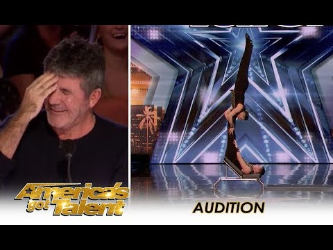 LEAK: Dangerous Acrobatic Act With a PAINFUL Ending! | America's Got Talent 2018 (видео)
