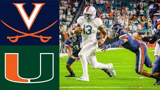 #20 Virginia vs Miami Highlights |  NCAAF Week 7 | College Football Highlights