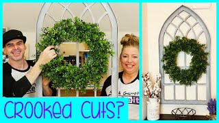 $20 Magnolia Inspired Cathedral Window Frame Wall Decor