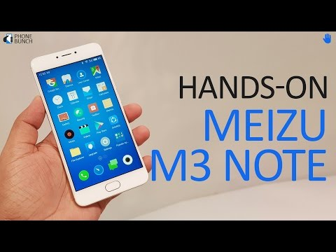 Meizu M3 Note (India) Hands-on Overview and FlyMe 5 Features