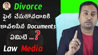 Documents required for filing Divorce in Telugu | Law Media | High Court Advocate - Sai Krishna Azad
