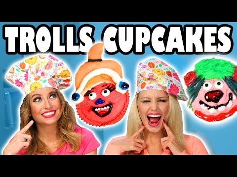 Baking Troll Cupcakes with Jenn & Lindsey. Totally TV