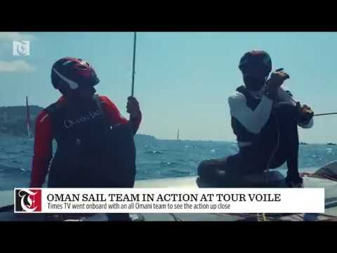 Oman Sail team in action at Tour Voile