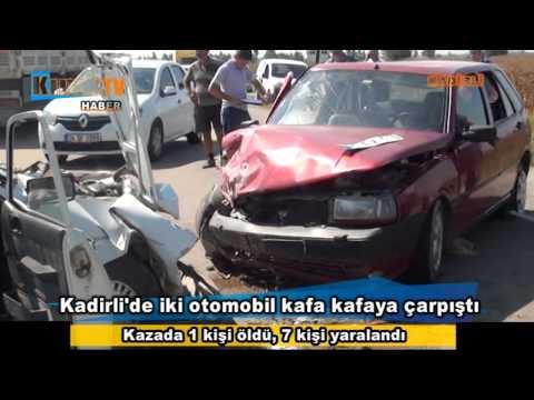 Kadirli'de kaza 1 ölü 7 yaralı
