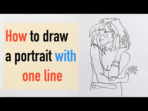 How To Draw a Portrait With On Line