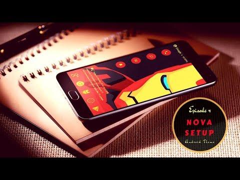Nova Launcher setup Iron Man Edition Galaxy Note8 - смотреть