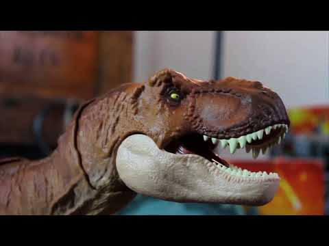 Mattel Jurassic World Fallen Kingdom Thrash N Throw Tyrannosaurus Rex Review!