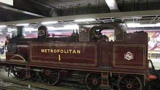 preview picture of video 'Hammersmith & City 150th Anniversary Special London Underground Metropolitan Railway'