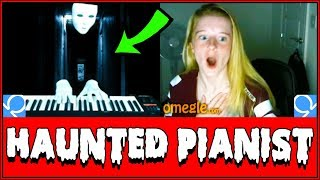 SPOOKY Ghost Plays Piano On Omegle Prank!! (Reactions)