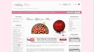 Easy Help Zen Cart Virtual Tour: Ashley Pink Free Template