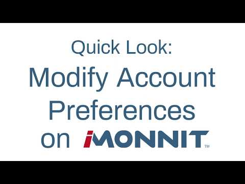 How to Modify Account Preferences