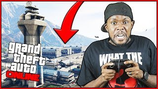 WHO CAN STEAL A JET FROM THE MILITARY BASE FIRST!! - GTA Online Gameplay