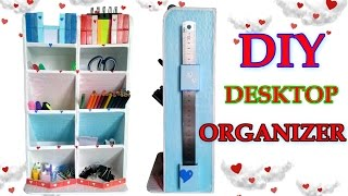 ❤ Настольный органайзер   cardboard ideas, organizer diy 🌹 organizador de escritorio