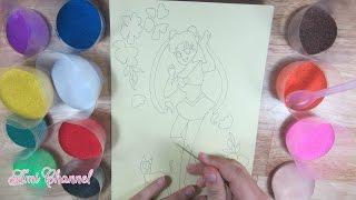 Đồ chơi trẻ em : Tô tranh cát Thủy thủ mặt trăng / Ami Channel