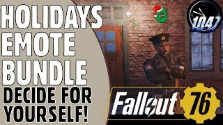 THE HOLIDAYS EMOTES BUNDLE - Decide for Yourself - FALLOUT 76