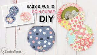 EASY & FUN COIN PURSE DIY - Sewing Gift Ideas | Cute Pouch In 30 Min Tutorial [sewingtimes]