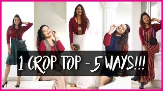 Crop Top Styling For Curvy Women!!! 💃 1 Crop Top 5 Ways 💁 Miss Pink Shoes