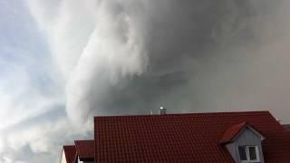 preview picture of video 'Gewaltiges Gewitter in Ingolstadt (Bayern) sieht aus wie eine Walze'