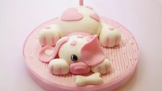 THE CUTEST Dog Cake Topper - How To Make An ADORABLE Fondant Dog